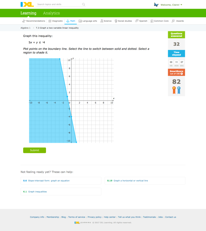 03 - Math high school sample